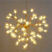 LEDデザイン照明スプートニクシャンデリア63灯 ブラック/ゴールド(W1000×H800mm)