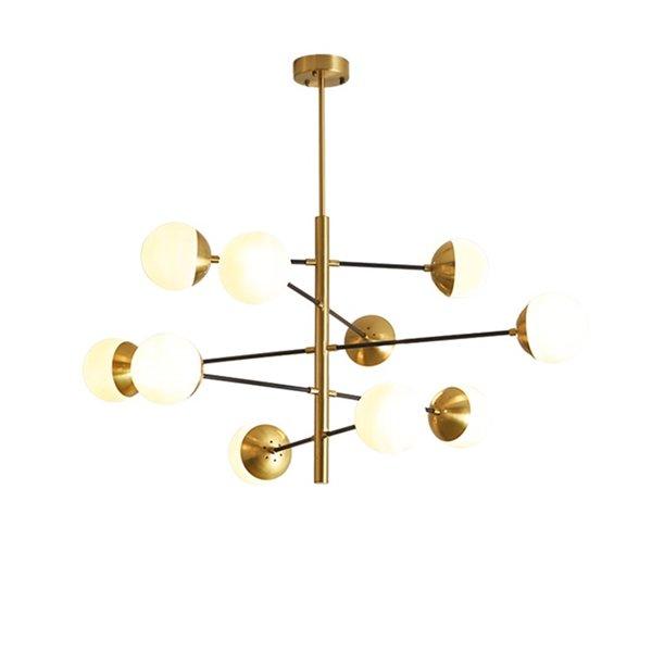 デザイン照明スプートニクシャンデリア10灯 ゴールド(1200×920mm)