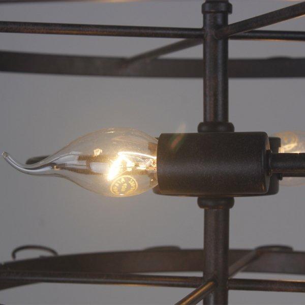 ワイングラス・ディスプレイ照明6灯 ブラック(Φ600×H330mm)