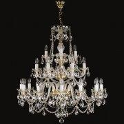 <B>【ART GLASS】</B>チェコorスワロフスキークリスタルシャンデリア 21灯