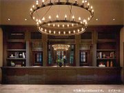 インダストリアル・スタイル照明 大型フープ型シャンデリア54灯(φ1500×H750mm)