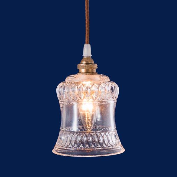 【即納可!】ガラスシェードミニペンダントライト1灯(φ120×H135mm)LED