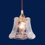 【次回入荷未定】ガラスシェードミニペンダントライト1灯(φ125×H150mm)LED