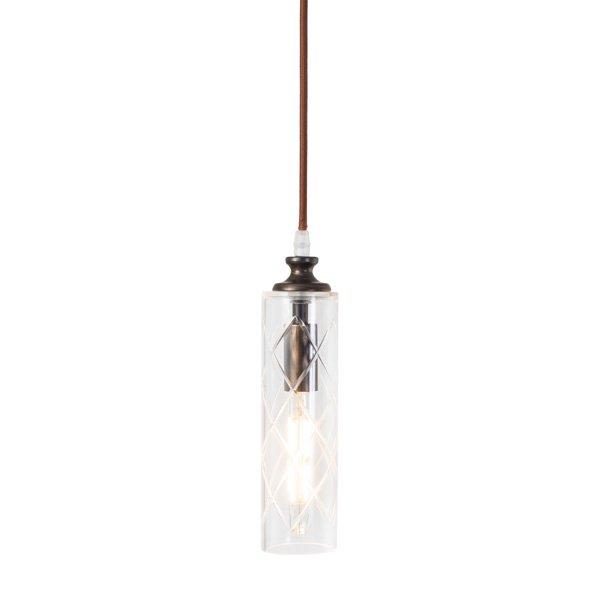 【即納可!残り僅か】ガラスシェードミニペンダントライト1灯(φ70×H230mm)LED