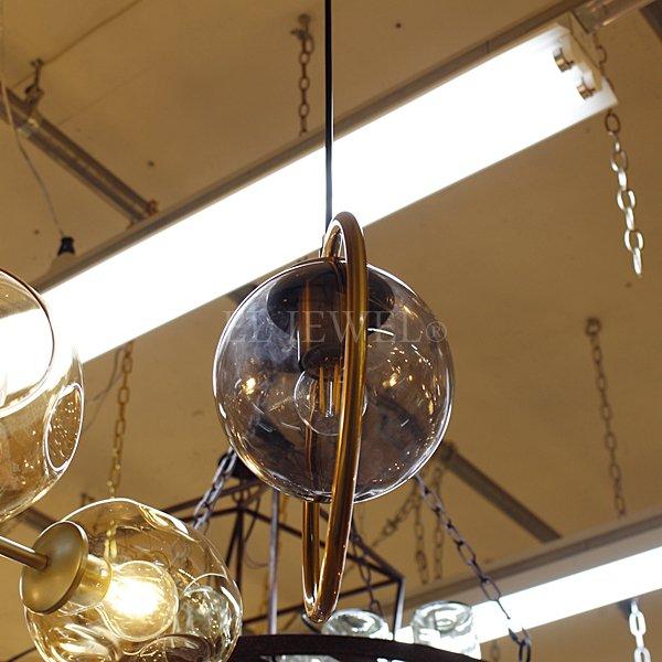 【在庫有!スモークグレーのみ】【First98k】デザインペンダントライト 1灯 クリア/アンバー/スモークグレー(Φ250mm)