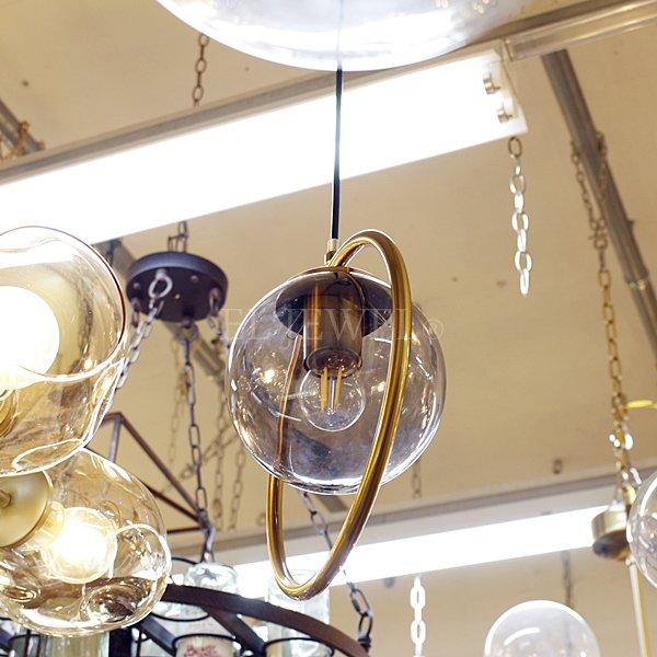 【1台在庫有!クリアーのみ】【First98k】デザインペンダントライト 1灯 クリア/アンバー/スモークグレー(Φ250mm)