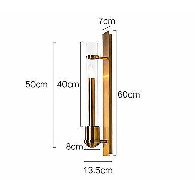 【HEDUO】デザインウォールライト1灯・ゴールド(Φ80×H600mm)