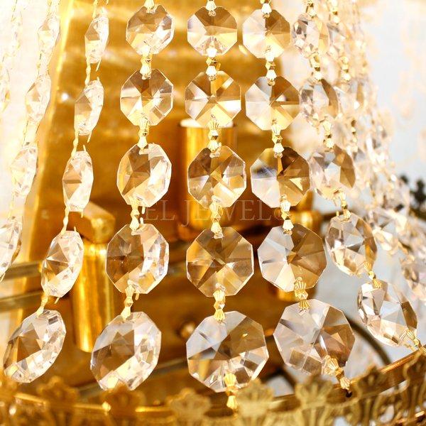 【2台在庫有!】クリスタルウォールライト3灯・ゴールド(W360×H450×D200mm)