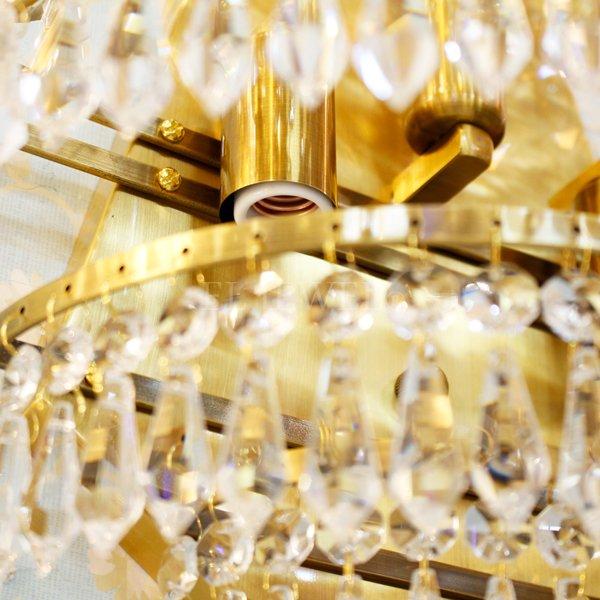 【1台在庫有!】クリスタルウォールライト3灯・ゴールド(W360×H450×D200mm)