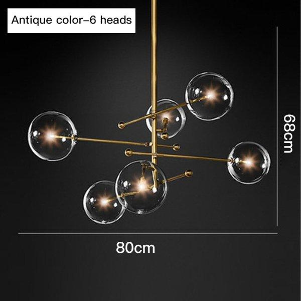 【在庫有!6灯ゴールドのみ】デザインスプートニク照明 6灯/8灯 ゴールド/ブラック (W970/W1200mm)