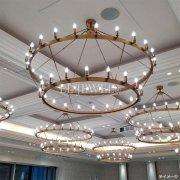 インダストリアル・スタイル照明 大型フープ型シャンデリア55灯(φ1600×H750mm)