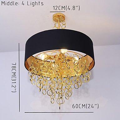 【UMEI】デザイン照明シェードシャンデリア4灯(W600mm)
