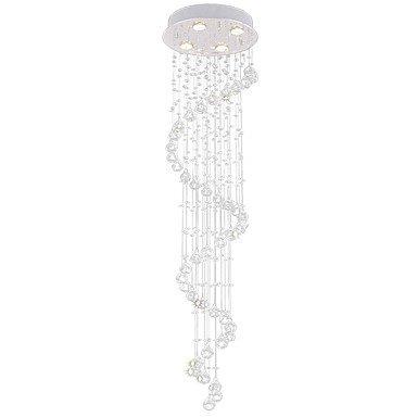 【VALLKIN】ワイヤーアート・クリスタルシャンデリア4灯・クローム(Φ350×H1200mm)
