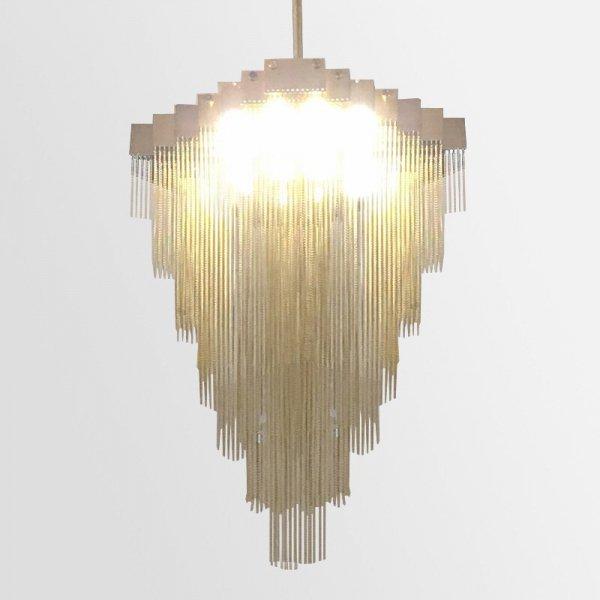 【E-Light】LEDペンダントライト クローム/ゴールド/ブラック 16/20/24灯 (L600〜L1200mm×W600〜W800mm)