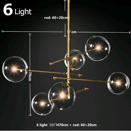 【E-Light】LEDシャンデリア ゴールド/ブラック 1/3/5/6/7/8灯 (D100〜D1250mm/L1200mm)