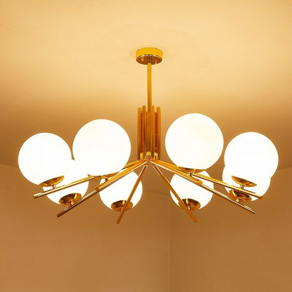 【E-Light】LEDシャンデリア 6/8灯 (D800〜D960mm×H490〜H530mm)