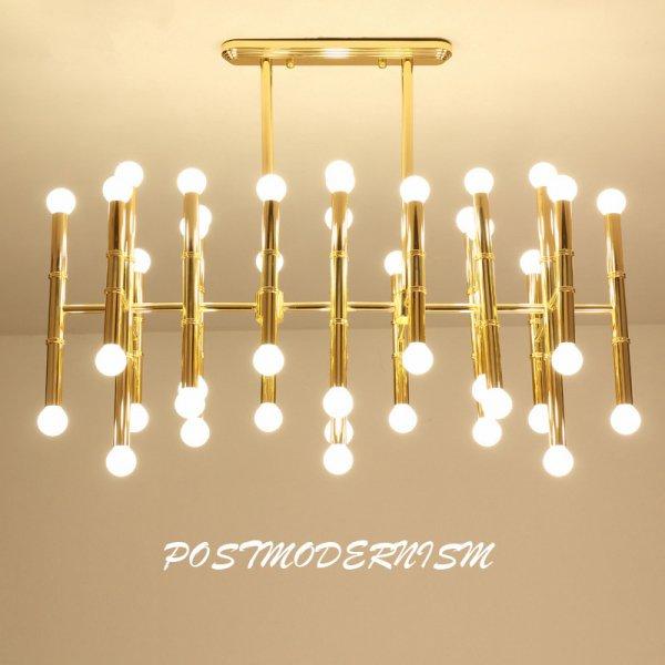 【E-Light】LEDシャンデリア ウォールブラケット ゴールド 10/30/42灯 (L260mm×W160mm×H360mm〜L1000〜L1200mm×H900mm)