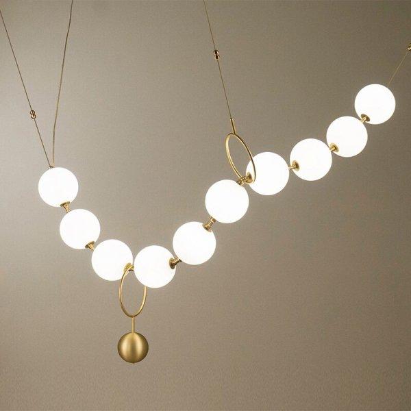 ガラスボールデザイン照明 10灯