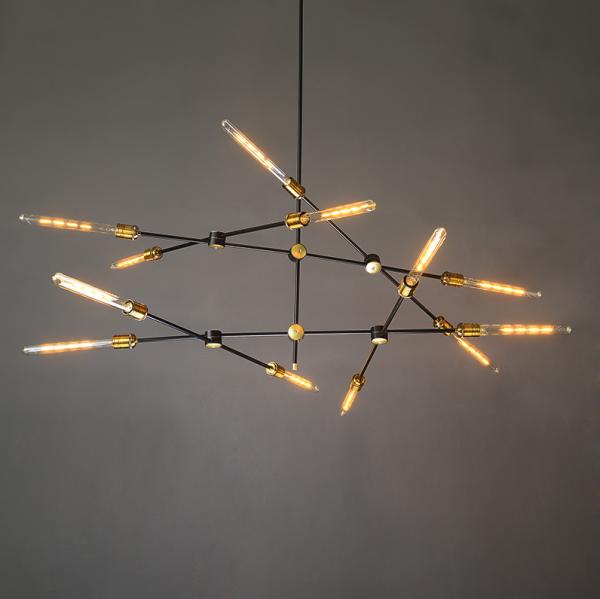 デザインスプートニク照明 6灯/8灯/12灯 ゴールド (W1120/W1470)
