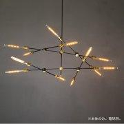 デザインスプートニク照明 6灯/8灯/12灯・ゴールド&ブラック (W1120/W1470)