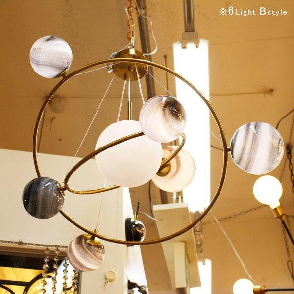 【在庫有!6灯Bstyleのみ】デザインスプートニク照明 6灯/12灯 ゴールド (約Φ750/Φ1000mm)