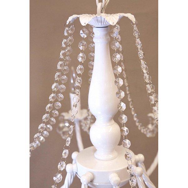 クリスタルガラスシャンデリア8灯「BESSI ベッシー」・ホワイト(φ760×H660)