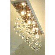 シーリングライト クリスタル照明4灯(W650×D200×H400mm)