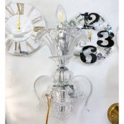 【1台在庫有!】ヴェネチアン調 ガラス製ブラケット 1灯 クローム(W300×D370×H500mm)