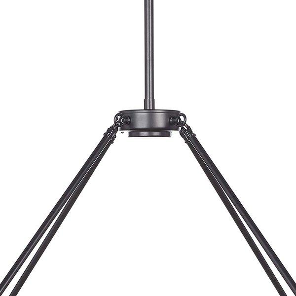 【在庫有!1台のみ】フープ型デザインシャンデリア 16灯 ブラック (約Φ1270×H730mm)