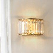【JSGYlights】クリスタルウォールライト2灯・ゴールド(W230×H150mm)