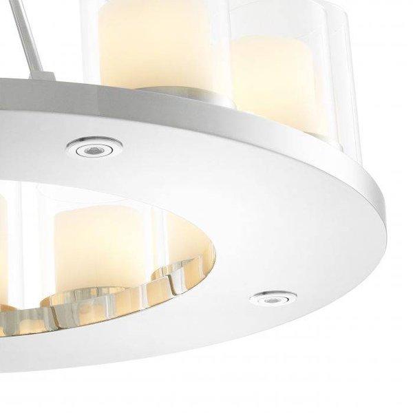 【EICHHOLTZ】デザイン照明キャンドルシャンデリア「SUMMIT」12灯・クローム(φ900×H650mm)
