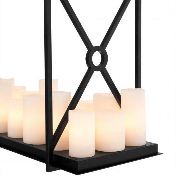 【EICHHOLTZ】デザイン照明キャンドルシャンデリア「COMMODORE」22灯・ブラック(W1200×H790mm)