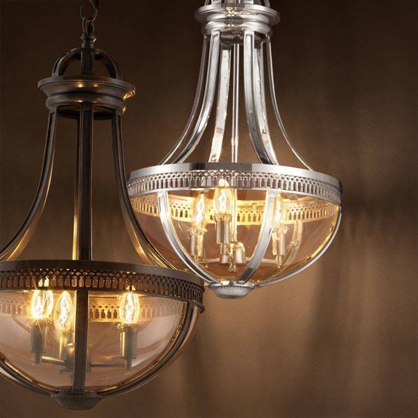 【EICHHOLTZ】デザイン照明ランタン「CAPITOL HILL S」3灯(φ420×H670mm)