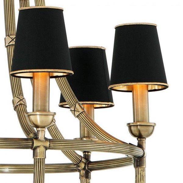 【EICHHOLTZ】デザイン照明シェードシャンデリア「MOREAUX L」6灯(φ550×H1120mm)