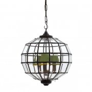 【EICHHOLTZ】デザイン照明ランタンシャンデリア「LUNA S」3灯(φ450×H420mm)