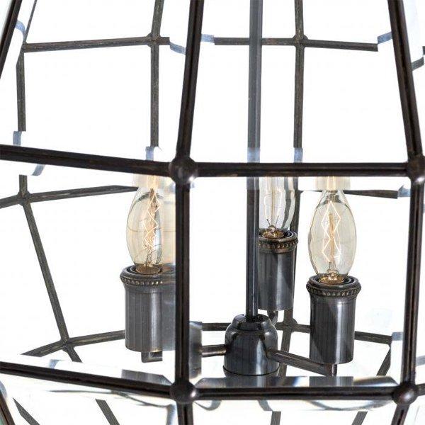【EICHHOLTZ】デザイン照明ランタンシャンデリア「LUNA L」3灯(φ670×H540mm)