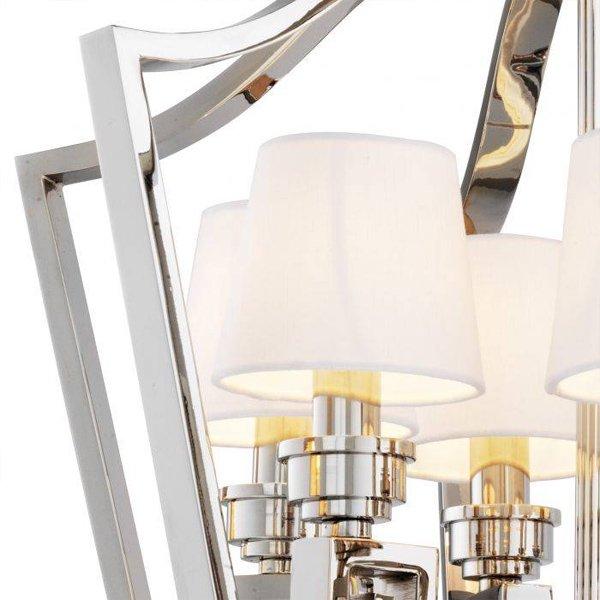 【EICHHOLTZ】デザイン照明ランタンシャンデリア「PRESIDENTIAL S」6灯・クローム(φ550×H610mm)
