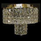 クリスタルシーリングシャンデリアD 6灯 ゴールド(W300×H300mm)