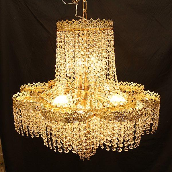 デザインシャンデリア「クラウン」 8灯(W600×H600mm)ゴールド