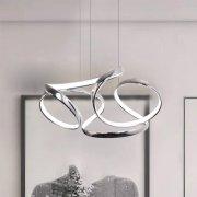 【CONTRACTED LED】デザイン照明LEDシャンデリア・クローム(W460mm)