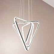 【CONTRACTED LED】デザイン照明LEDシャンデリア・クローム(W500mm)