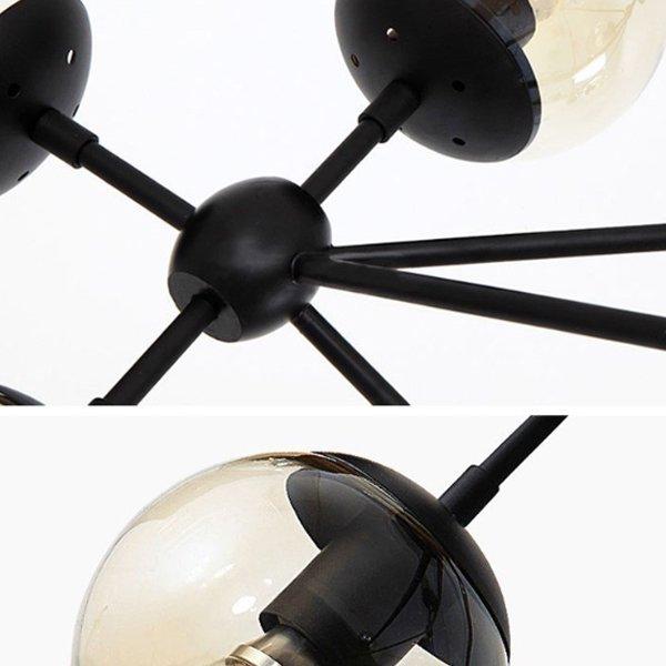 【1台在庫有!】大型デザインスプートニク照明21灯 ブラック (W1730xH1070mm)