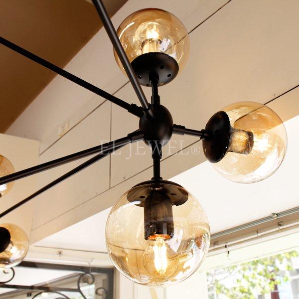 大型デザインスプートニク照明21灯/10灯 ブラック (W1730/W900mm)