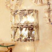 【1台在庫有!】【Richmond Interiors】クリスタルウォールランプ・クローム「Auden」3灯(W320×H310×D190mm)
