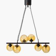 【5台在庫有!】 【HERMOSA】ペンダントライト「BIARRITZ 8」6灯・ブラック(W830×H1000mm)