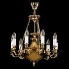 <B>【ART GLASS】</B>チェコクリスタルシャンデリア 9灯(W450×H480mm)