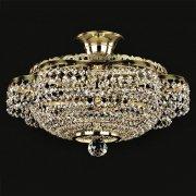 <B>【ART GLASS】</B>チェコorスワロフスキークリスタルシーリングシャンデリア 3灯(W400×H175mm)