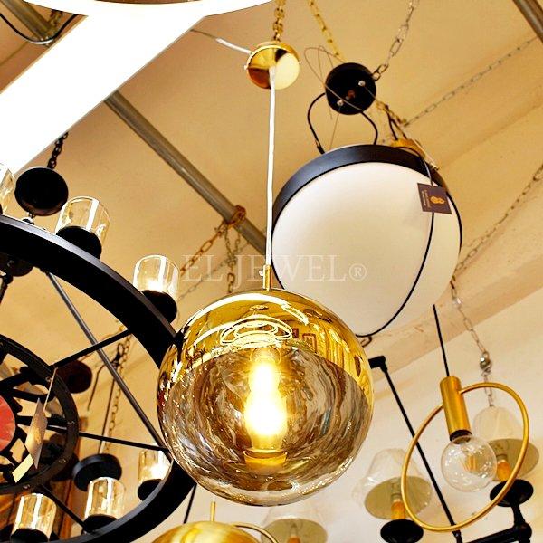 【1台在庫有!ゴールドφ250】デザインガラスボールペンダントライト 1灯(3色)