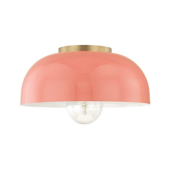 【MITZI】シーリングライト・L「AVERY」1灯・ゴールド×ピンク(W355.6×H158.7mm)