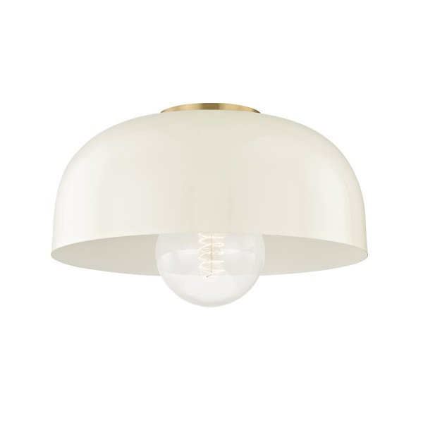 【MITZI】シーリングライト・L「AVERY」1灯・ゴールド×クリーム(W355.6×H158.7mm)